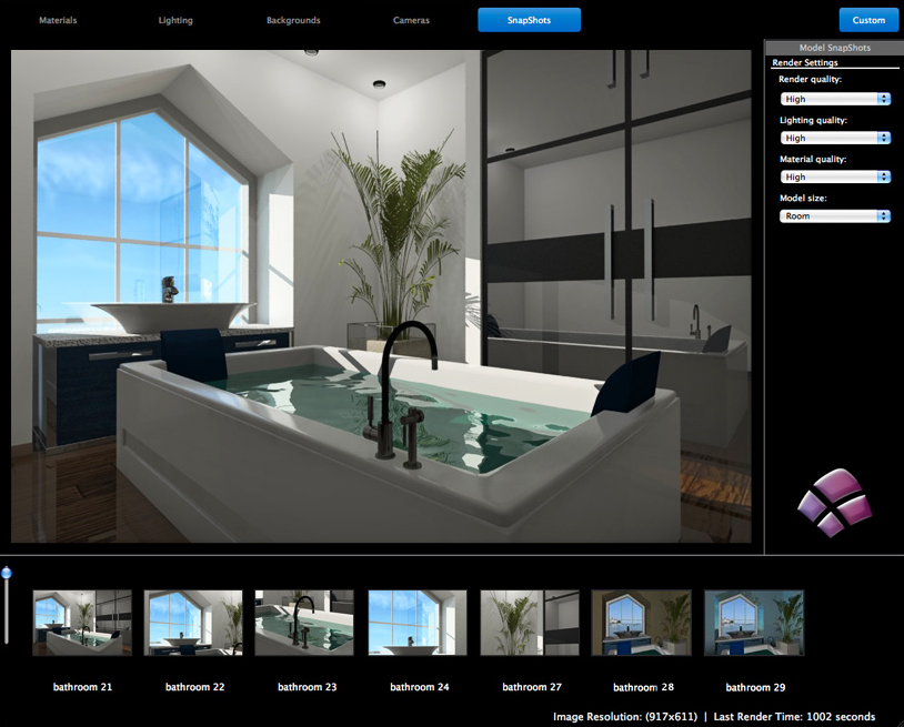 Live interior 3d