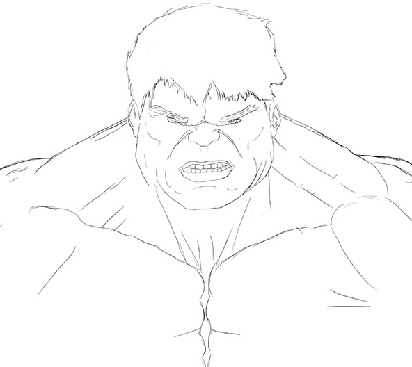 easy hulk drawings - photo #8